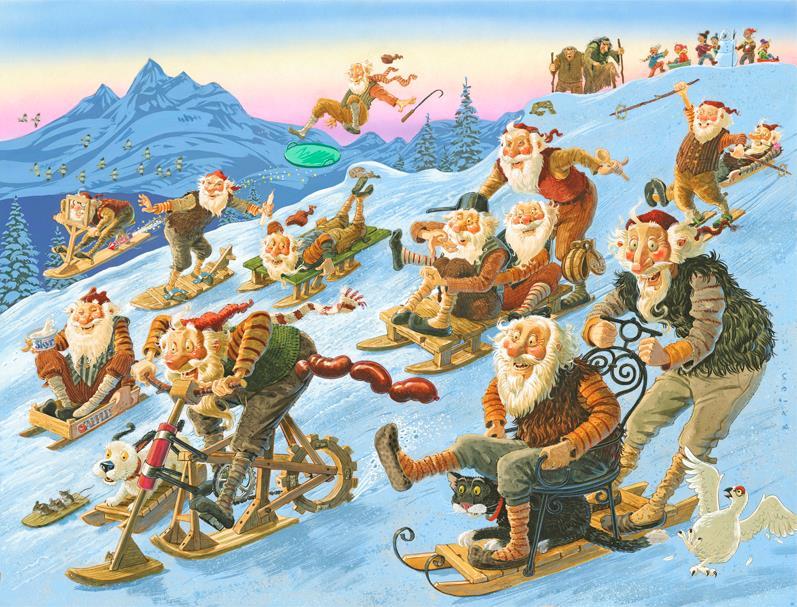 Icelandic 13 Yule Lads - Brian Pilkington