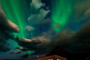 Northern Lights over Arnarstapi Center