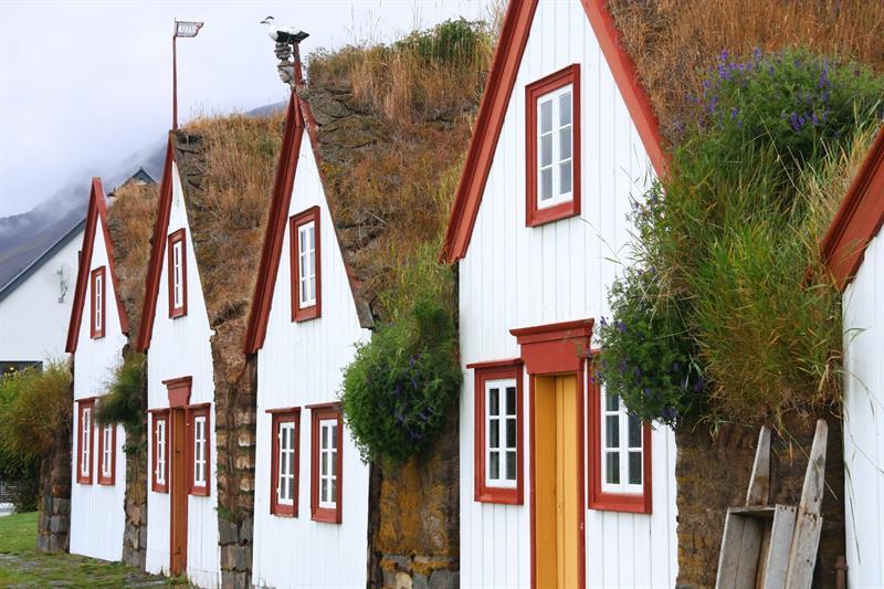 Laufás turf houses in Eyjafjörður