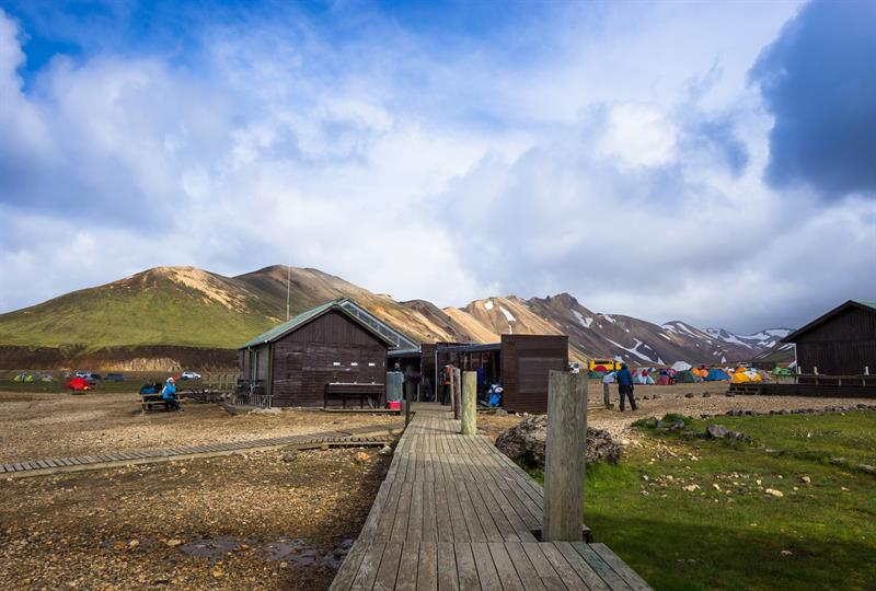 Hiking hut in Landmannalaugar, Iceland