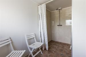 Shower facilities on the camping site at Hjalli