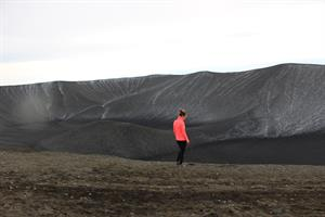 Hike up to the rim of Hverfjall Crater in North Ieland.