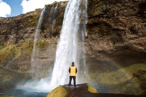 Visit the awe-inspiring Seljalandsfoss Waterfall on the South Coast.