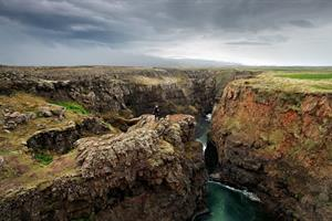 Visit the impressive Kolugljúfur Canyon in NorthWest Iceland.