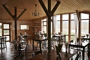 Restaurant with a beautiful view of the countryside