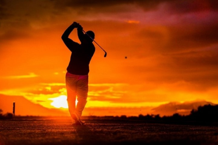 Play golf in the midnight sun in Iceland