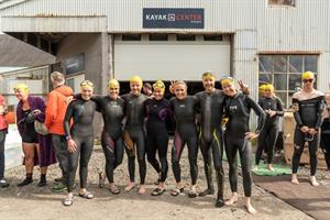 Participants in open-water swimming