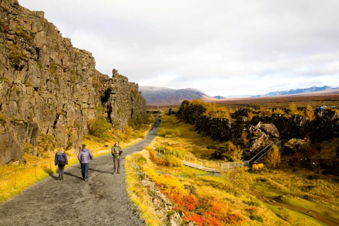 Almannagjá in Þingvellir National Park