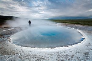 Geysir hot spring area