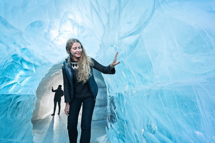 Glaciers and ice cave exhibition
