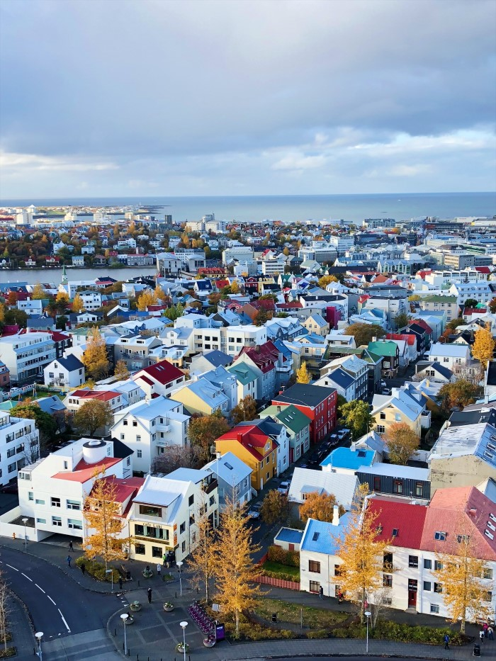 The colourful rooftops of Reykjavík
