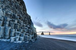 Basalt rock formations at Reynisfjara