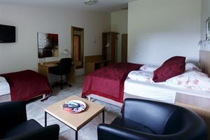 Double room with private bathroom and an additional bed