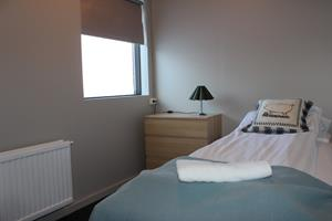 Single room with shared facilities.