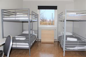 Room with bunk beds for 4 pers. shared facilities.