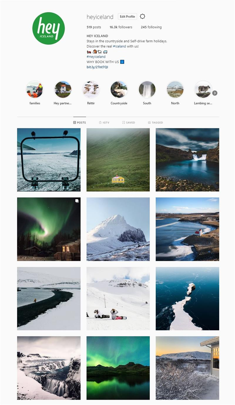 Hey Iceland Instagram Account