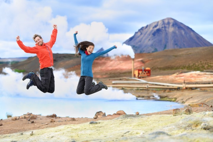Happiness in Icelandic nature