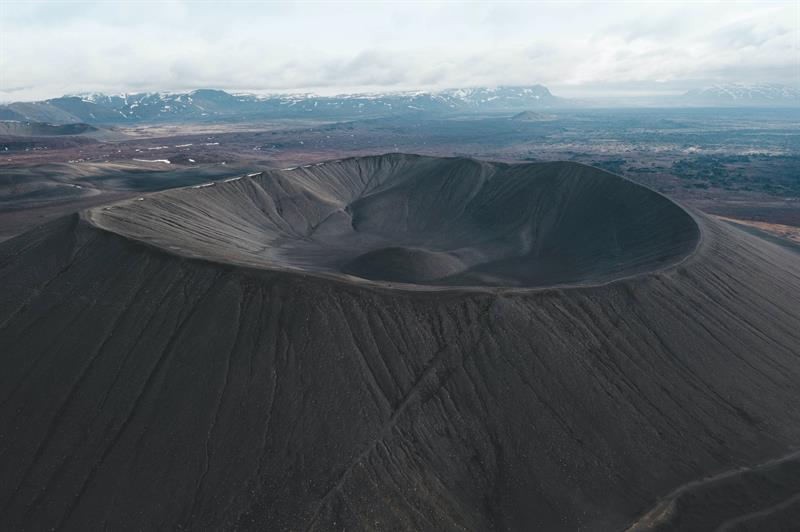 Hverfjall Crater in North Iceland
