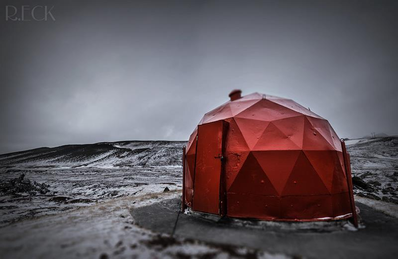 Krafla Geodesic Dome Iceland - Russel Eck