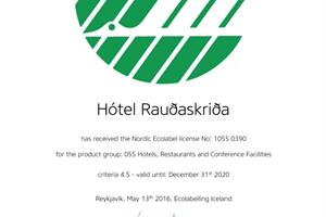 The hotel is ecolabelled - The Nordic Swan