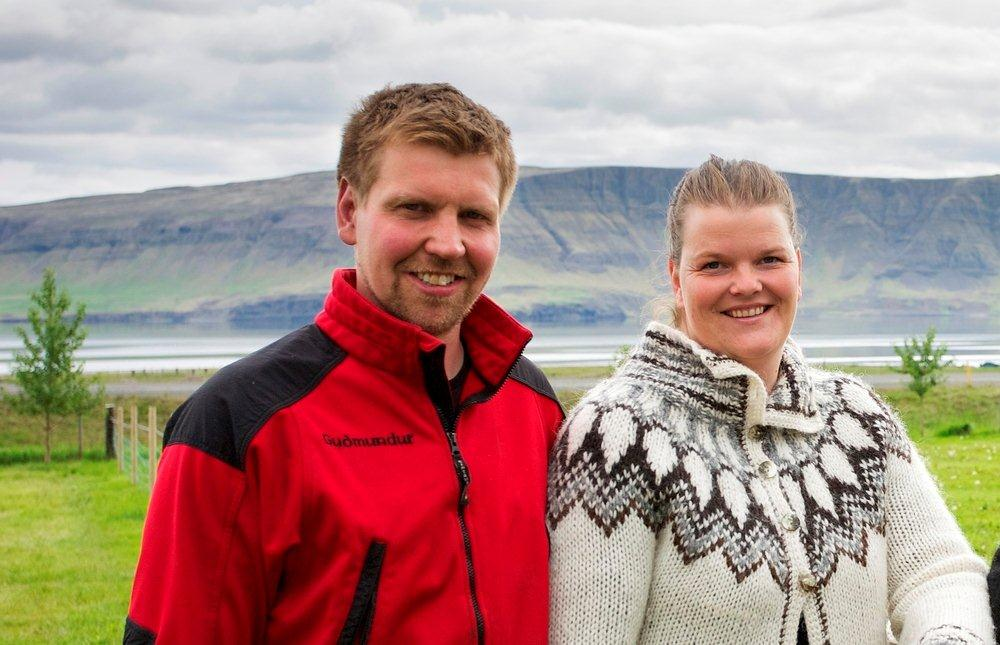 Hosts at Icelandic farm holidays accommodation
