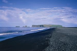 Cape Dyrhólaey and black volcanic beach