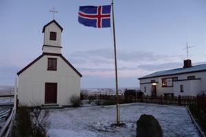 Staðarbakkakirkja church, North Iceland
