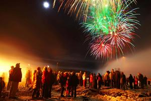 New Year celebrations in Iceland