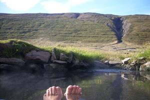 A natural pool is the prefect place to relax after a day of horse riding