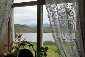The view through the window from Ensku húsin