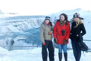 Visiting Gullfoss Waterfall