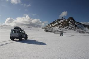 Enjoy the thrill of driving a Land Rover 4WD jeep