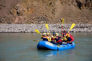 River rafting in West Glacial River