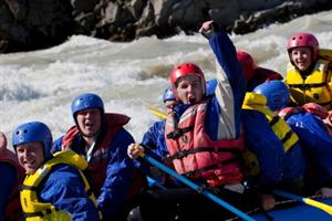 River rafting in Hvítá river