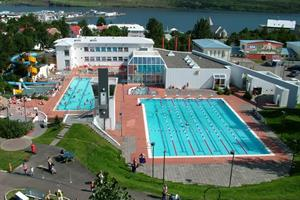 Geothermal swimming pool in Akureyri