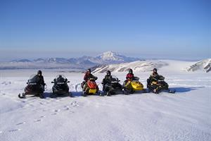 Snow-mobile tour on Vatnajökull Glacier