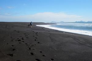 Black beaches on the South Coast of Iceland
