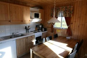 Kitchen and dining area of a 5 person cottage