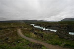 View over Goðafoss and Skjálfandafljót