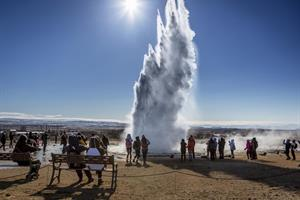 Strokkur hot spring at Geysir
