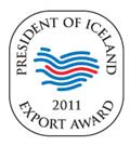 President of Iceland's Export Award in 2011