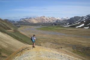 Hiking in Landmannalaugar area