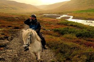 Horse riding in the autumn