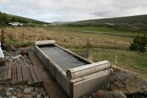 Hot tub at Stóru-Laugar, North Iceland