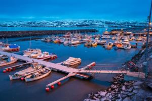 Marina in Akureyri, North Iceland