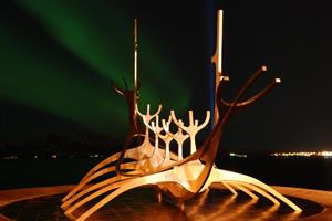 Northern Lights Tour - The Sun Voyage, sculpture located close to Reykjavík Harbour