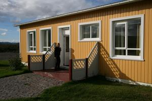 Fjósið, accommodation in rooms with private bathroom