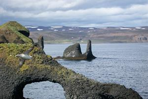 Rock formations at Rauðanes Peninsula