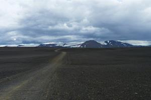 Sprengisandur highland route, view towards Tungnafellsjökull Glacier