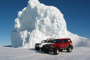 Go on a glacier tour - by jeep or snowmobile.